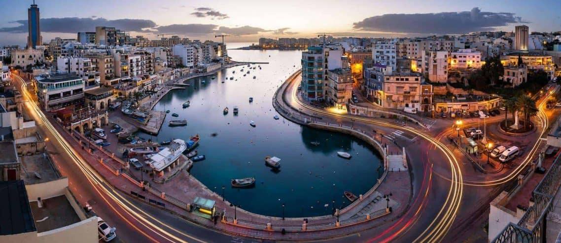 Blick auf Malta eines Malta Limited Gründers