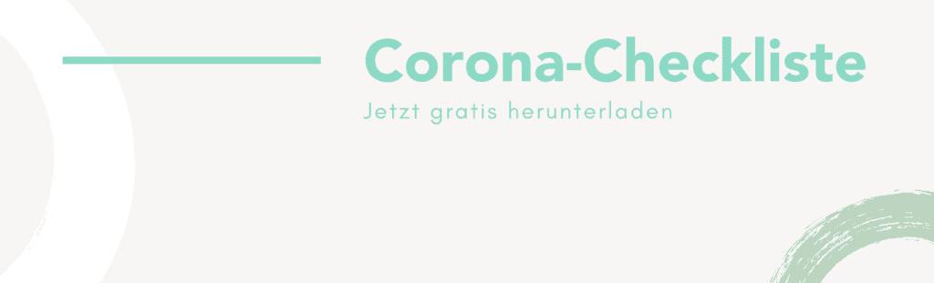 Corona Checkliste für Unternehmen