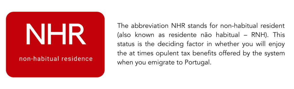 NHR stands for non-habitual resident