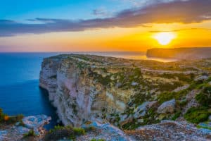 Schönste Orte auf Malta, Ta Cenc cliffs, Ta Cenc Klippen, Sonnenuntergang,Malta